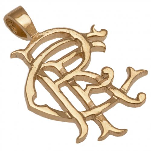 Rangers F.C. 9ct Gold Pendant Heavy Large