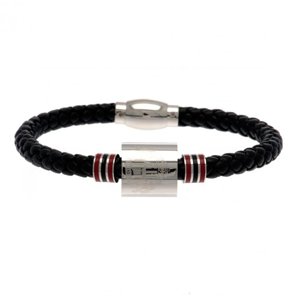 Sunderland A.F.C. Colour Ring Leather Bracelet