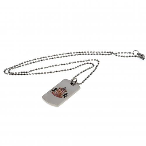 Sunderland A.F.C. Colour Crest Dog Tag & Chain