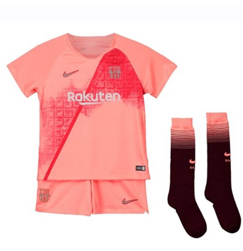 53a8bb5c4 Buy Official 2018-2019 Barcelona Third Nike Little Boys Mini Kit