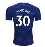 2018-2019 Chelsea Nike Vapor Home Match Shirt (David Luiz 30) - Kids