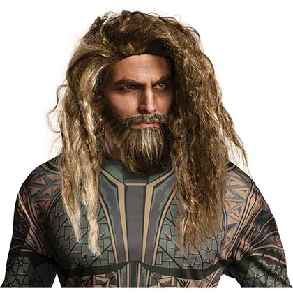 AQUAMAN Wig And Beard Set