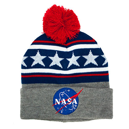 NASA Stars And Stripes Pom Beanie
