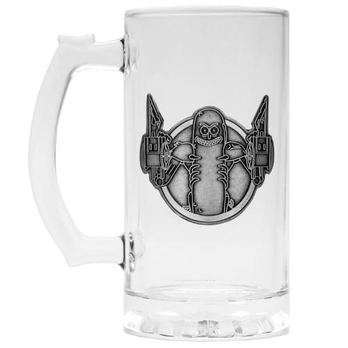 Rick And Morty Glass Tankard Pickle Rick