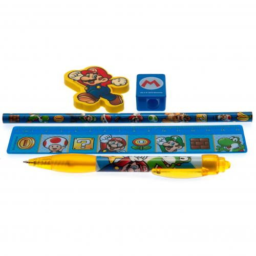 Super Mario 5pc Stationery Set