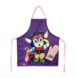 Dr. Slump cooking apron with oven mitt Arale