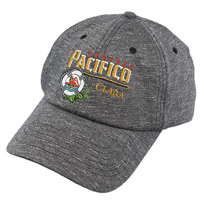 PACIFICO Grey Heathered Strapback Hat