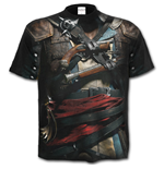 Spiral - Assassin's Creed IV Black Flag - Allover Licensed Black T-shirt (Unisex)