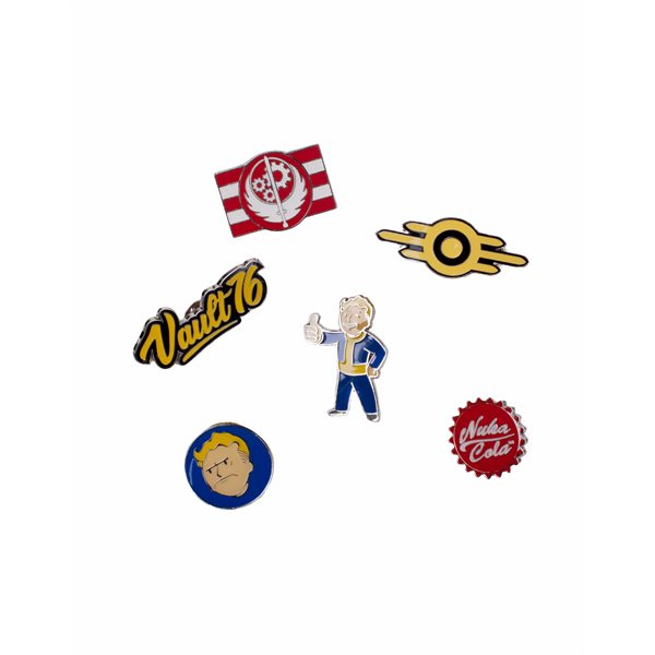 Fallout 76 - Set Of 6 Metal Pins