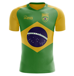 2018-2019 Brazil Flag Concept Football Shirt
