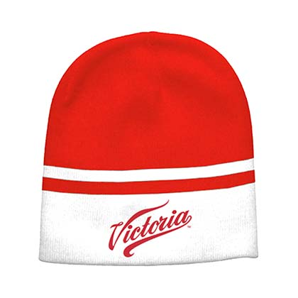Victoria Red And Grey Winter Hat