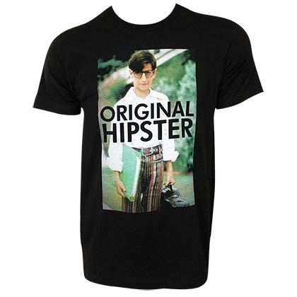 326ad021586 WONDER YEARS Retro Paul Original Hipster Men s Black T-Shirt