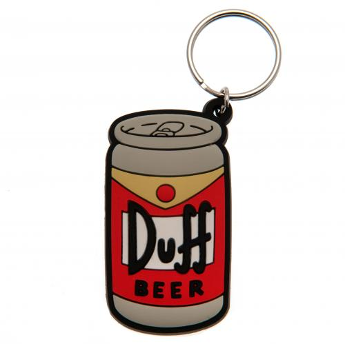 The Simpsons Keyring Duff Beer