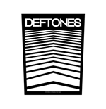 Deftones Back Patch: Abstract Lines