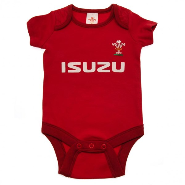 Wales R.U. 2 Pack Bodysuit 9/12 mths PS