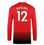 2018-2019 Man Utd Adidas Home Long Sleeve Shirt (Smalling 12) - Kids