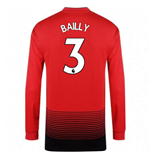 2018-2019 Man Utd Adidas Home Long Sleeve Shirt (Bailly 3) - Kids
