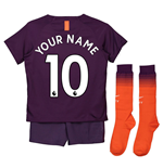 2018-2019 Man City Third Nike Little Boys Mini Kit (Your Name)