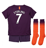 2018-2019 Man City Third Nike Little Boys Mini Kit (Sterling 7)