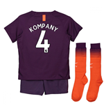 2018-2019 Man City Third Nike Little Boys Mini Kit (Kompany 4)