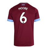 2018-2019 West Ham Home Football Shirt (Moore 6)