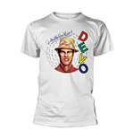 Devo T-shirt Are We Not MEN? (WHITE)