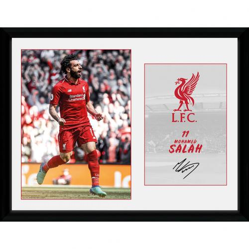 Liverpool F.C. Picture Salah 16 x 12