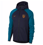 2018-2019 Atletico Madrid Nike Techfleece Authentic Hoody (Obsidian)