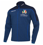 2018-2019 Italy Macron Rugby Full Zip Anthem Jacket (Blue)