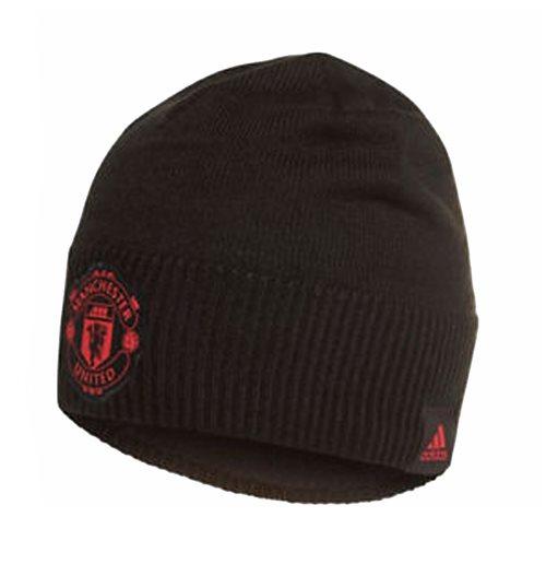 Official 2018-2019 Man Utd Adidas Beanie (Black)  Buy Online on Offer 124b548bf496