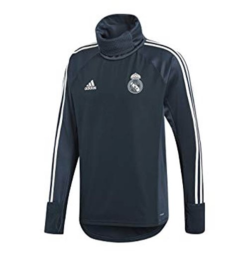 2018-2019 Real Madrid Adidas Warm Top (Dark Grey)