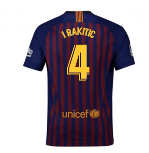 2018-2019 Barcelona Home Nike Football Shirt (I Rakitic 4)