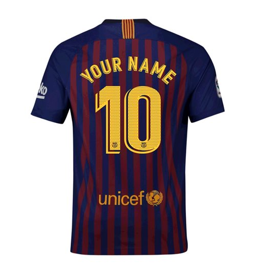2018-2019 Barcelona Home Nike Football Shirt (Your Name)