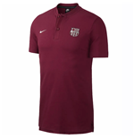 2018-2019 Barcelona Nike Authentic Polo Shirt (Deep Maroon)