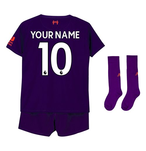 2018-2019 Liverpool Away Little Boys Mini Kit (Your Name)