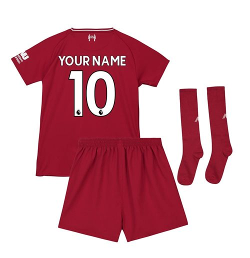 2018-2019 Liverpool Home Little Boys Mini Kit (Your Name)
