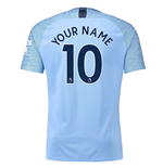 2018-2019 Man City Nike Vapor Home Match Shirt (Your Name)