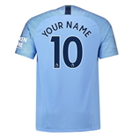 2018-2019 Man City Home Nike Football Shirt (Your Name)