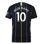 2018-2019 Man City Away Nike Football Shirt (Your Name) -Kids