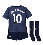 2018-2019 Man Utd Adidas Third Little Boys Mini Kit (Your Name)