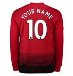 2018-2019 Man Utd Adidas Home Long Sleeve Shirt (Your Name)