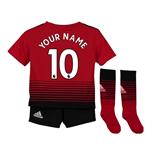 2018-2019 Man Utd Adidas Home Little Boys Mini Kit (Your Name)