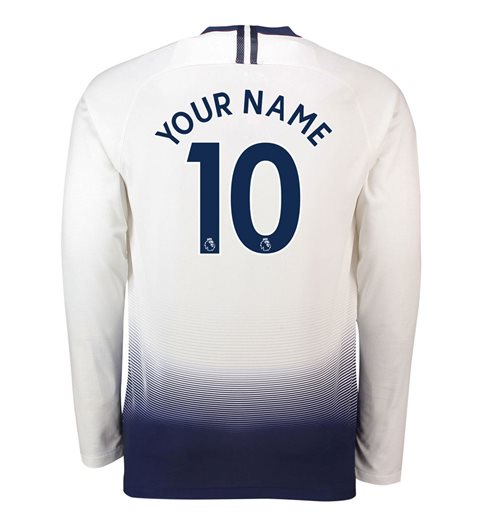 2018-2019 Tottenham Home Long Sleeve Nike Shirt (Your Name)