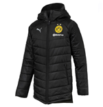 2018-2019 Borussia Dortmund Puma Long Bench Jacket (Black)