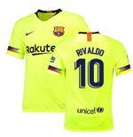 2018-19 Barcelona Away Shirt (Rivaldo 10) - Kids