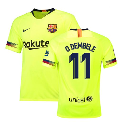 2018-19 Barcelona Away Shirt (O Dembele 11) - Kids