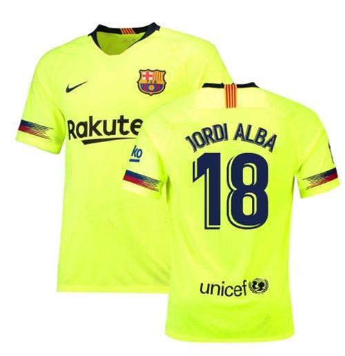 72c4081a5 Buy Official 2018-19 Barcelona Away Shirt (Jordi Alba 18) - Kids