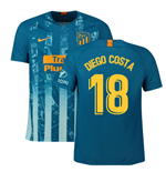 2018-2019 Atletico Madrid Third Nike Football Shirt (Diego Costa 18)