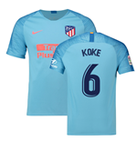 2018-2019 Atletico Madrid Away Nike Football Shirt (Koke 6)