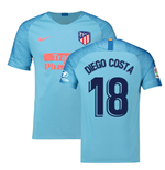 2018-2019 Atletico Madrid Away Nike Football Shirt (Diego Costa 18)